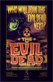 Advert for The Evil Dead on the Commodore 64.