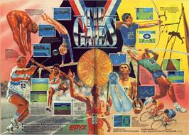 Advert for The Games: Summer Edition on the Sinclair ZX Spectrum.