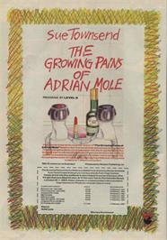 Advert for The Growing Pains of Adrian Mole on the Commodore 64.