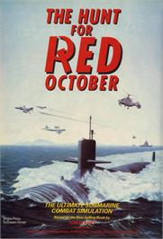 Advert for The Hunt for Red October on the Commodore 64.