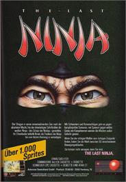 Advert for The Last Ninja on the Commodore 64.