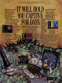 Advert for The Legend of Blacksilver on the Commodore 64.