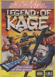 Advert for The Legend of Kage on the Commodore 64.