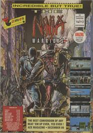Advert for The Ninja Warriors on the Commodore 64.