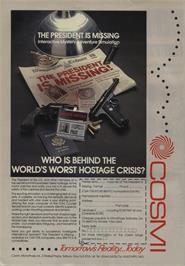 Advert for The President is Missing on the Commodore 64.