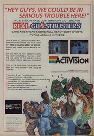 Advert for The Real Ghostbusters on the Commodore 64.