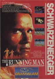 Advert for The Running Man on the Commodore 64.