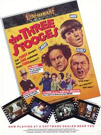 Advert for The Three Stooges on the Sony Playstation.