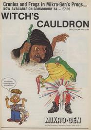 Advert for The Witch's Cauldron on the Sinclair ZX Spectrum.