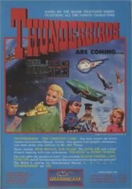 Advert for Thunderbirds on the Commodore 64.
