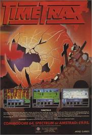 Advert for Time Trax on the Commodore 64.