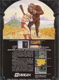 Advert for Times of Lore on the Amstrad CPC.