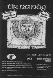 Advert for Tir Na Nog on the Commodore 64.