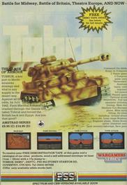 Advert for Tobruk: The Clash of Armour on the Commodore 64.