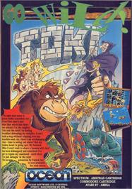 Advert for Toki: Going Ape Spit on the Commodore 64.
