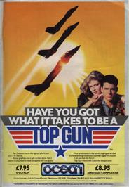 Advert for Top Gun on the Commodore 64.