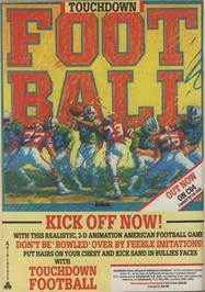 Advert for Touchdown Football on the Commodore 64.
