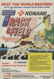 Advert for Track & Field on the Commodore 64.