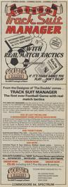 Advert for Tracksuit Manager on the Commodore 64.