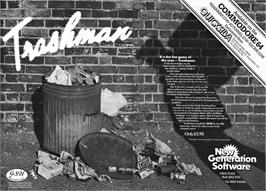 Advert for Trashman on the Commodore 64.