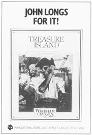 Advert for Treasure Island on the Commodore 64.