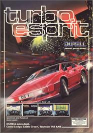 Advert for Turbo Esprit on the Commodore 64.