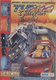Advert for Turbo Outrun on the Commodore 64.