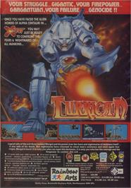 Advert for Turrican on the Commodore 64.