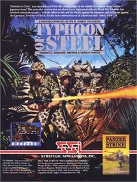 Advert for Typhoon of Steel on the Commodore 64.