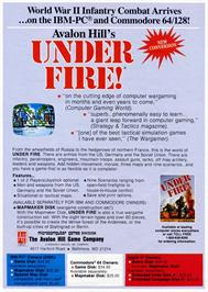 Advert for Under Fire on the Commodore 64.