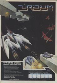 Advert for Uridium on the Atari ST.
