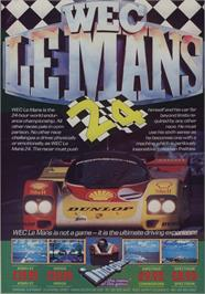 Advert for WEC Le Mans on the Commodore 64.