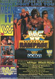 Advert for WWF European Rampage on the Atari ST.