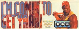 Advert for WWF Wrestlemania on the Commodore 64.