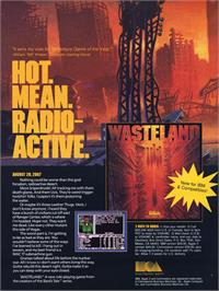 Advert for Wasteland on the Microsoft DOS.