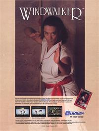Advert for Windwalker on the Commodore Amiga.
