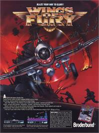 Advert for Wings of Fury on the Commodore Amiga.