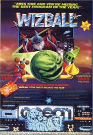 Advert for Wizball on the Atari ST.