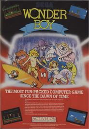 Advert for Wonder Boy on the Commodore 64.