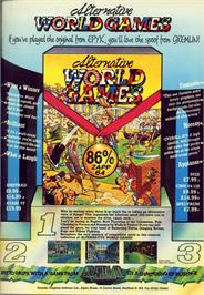 Advert for World Games on the Apple II.