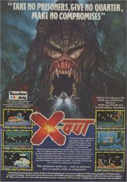 Advert for X-Out on the Commodore 64.