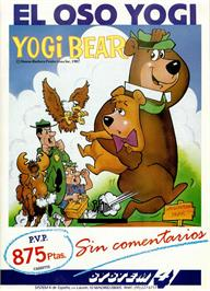 Advert for Yogi Bear on the Commodore 64.
