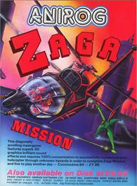 Advert for Zaga Mission on the Commodore 64.
