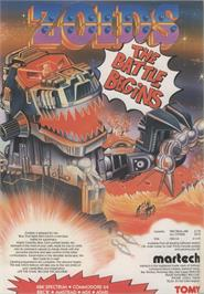 Advert for Zoids on the Sinclair ZX Spectrum.