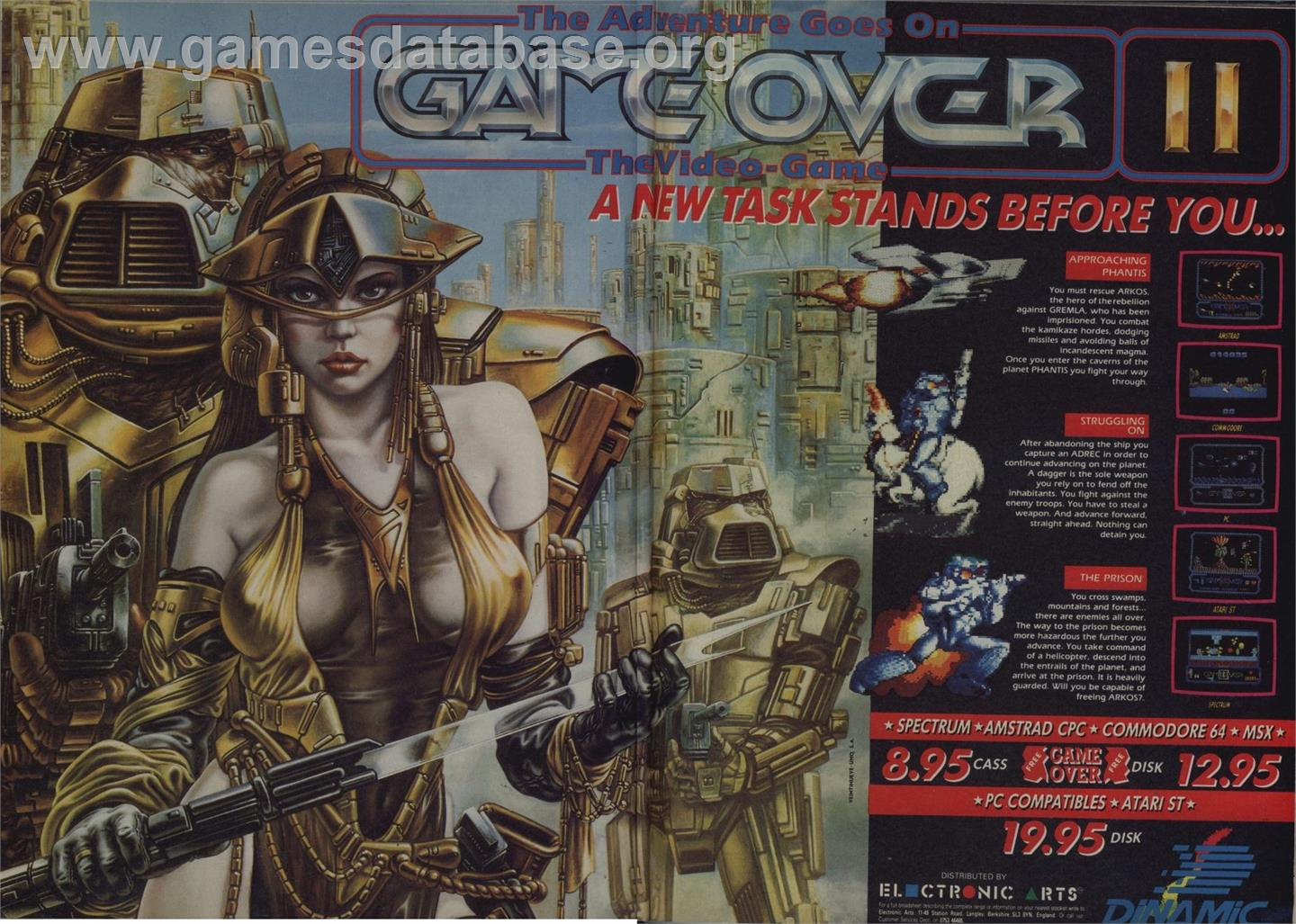 Game Over - Amstrad CPC - Artwork - Advert