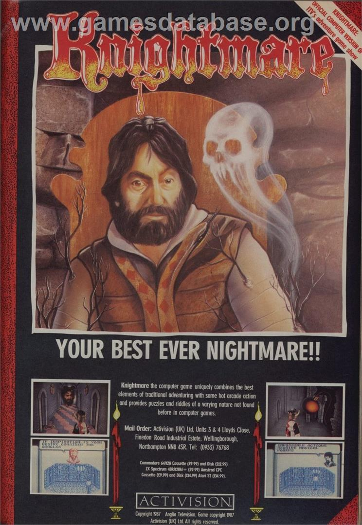 Knightmare - MSX 2 - Artwork - Advert