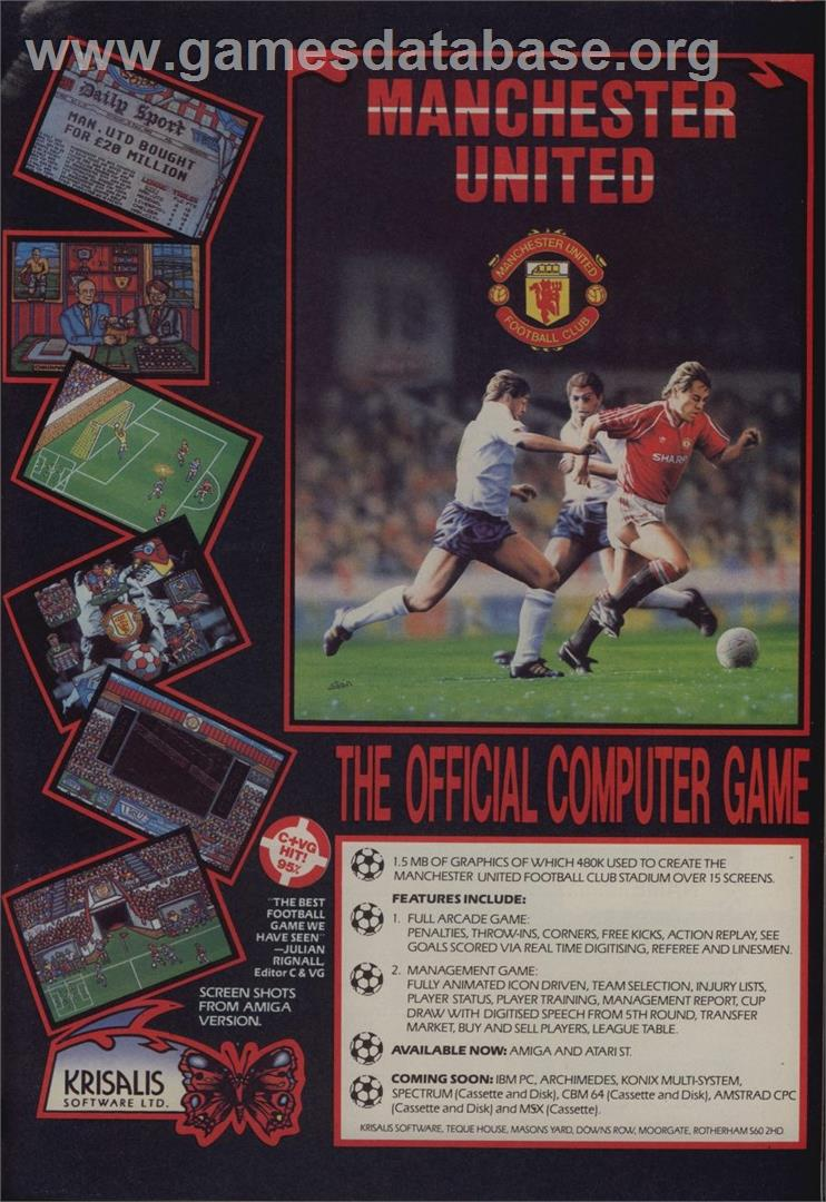 Manchester United - Commodore 64 - Artwork - Advert