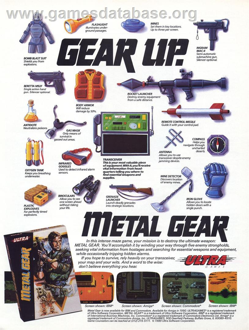 Metal Gear - MSX 2 - Artwork - Advert
