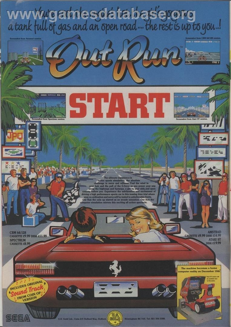 OutRun - NEC PC Engine - Artwork - Advert