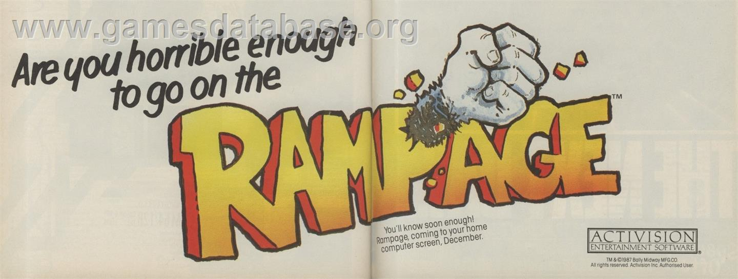 Rampage - Atari ST - Artwork - Advert